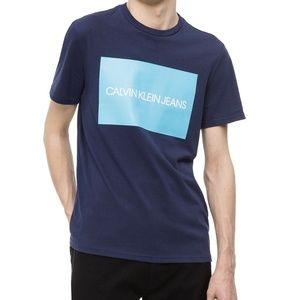 Calvin Klein Crew Neck Logo Tee Navy  XL - NEW